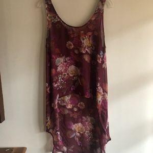 Decree hi-low blouse